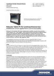 Robuster Tablet-PC für Landmaschinenservice - Durabook