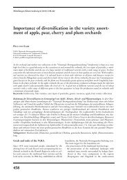 ment of apple, pear, cherry and plum orchards - und Obstbau ...