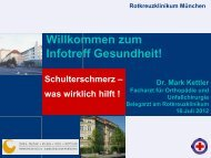 Schmerzen in der Schulter - Rotkreuzklinikum München