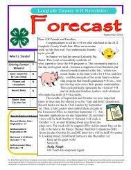 Langlade County 4-H Newsletter - University of Wisconsin-Extension