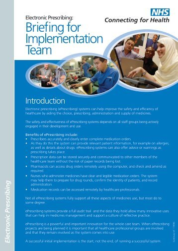 Implementation team members (PDF, 829Kb) - NHS Connecting for ...