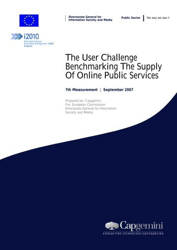 The User Challenge Benchmarking The Supply Of Online Public ...