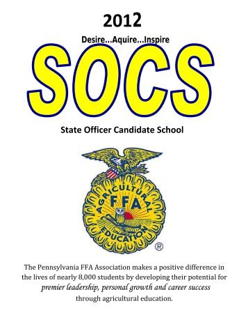 new 2013 2014 il ffa state officer candidate resume book