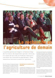 La recherche et l'agriculture de demain - AWE