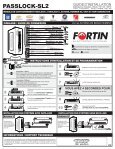 PASSLOCK-SL2 Guide D'Installation - Fortin Electronic Systems - Page 2