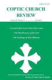 2004 Fall.Vol25.#3.pdf - Coptic Church Review