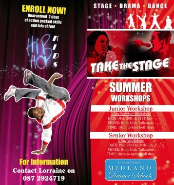 Midlands Drama School Summer School Brochure