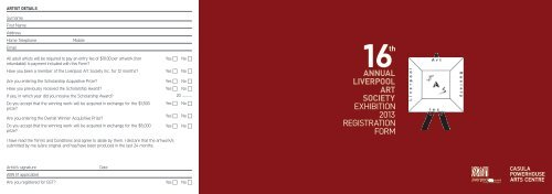 annual liverpool art society exhibition 2013 registration form