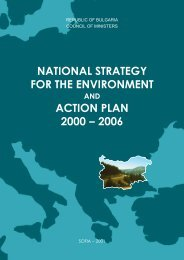 NATIONAL STRATEGY FOR THE ENVIRONMENT ACTION PLAN ...
