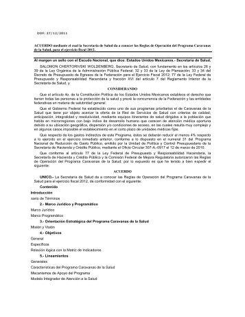 Anexo 2 - Reglas de Operación Caravanas de la Salud 2012