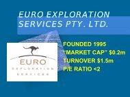 euro exploration euro exploration services pty. ltd. - SA Explorers
