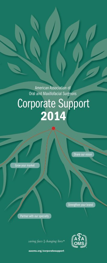 Corporate Support Brochure - American Association of Oral and ...