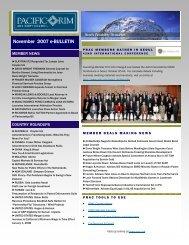 November 2007 eBulletin - Pacific Rim Advisory Council (PRAC)