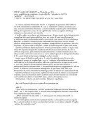 ORDONANTA DE URGENTA nr. 39 din 31 mai 2006 pentru ...