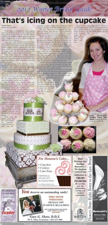 2012 Winter Bridal Guide That's icing on the cupcake - the Leader