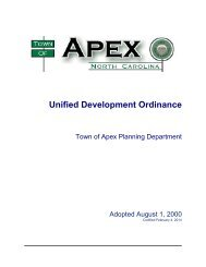 Unified Development Ordinance - Town of Apex