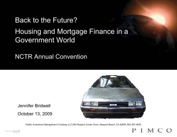 Back to the Future? Housing and Mortgage Finance in a ...