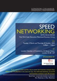 SPEED NETWORKING - London Chamber of Commerce and Industry