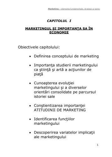Marketingul si importanta sa in economie - Antreprenoriat de Succes ...