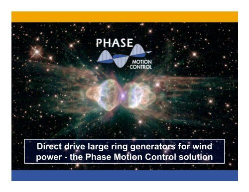 Direct drive large ring generators for wind power - the ... - Otherpower