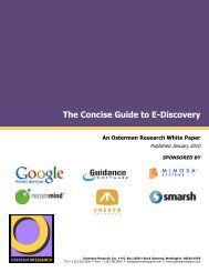 Cover, WHITE PAPER - Osterman Research