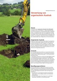 Verwertung von organischem Aushub - KSE Bern