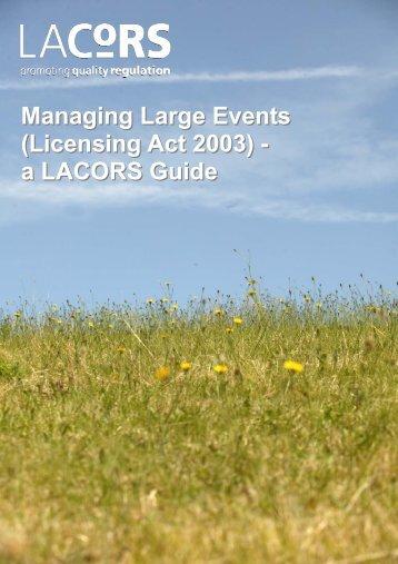 Managing Large Scale Events - Fylde Borough Council