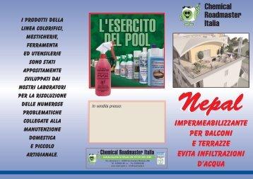 Download depliant Nepal - Chemical Roadmaster Italia