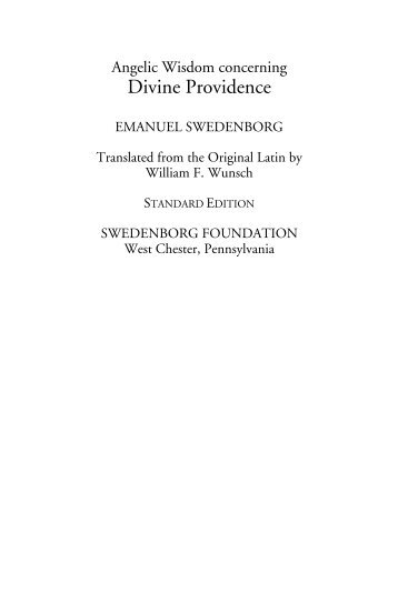 DIVINE PROVIDENCE SWEDENBORG EPUB