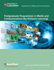 Media & Communications - University of Leicester