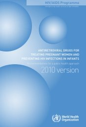 Antiretroviral drugs for treating pregnant women and preventing HIV ...