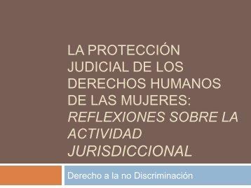 Derechos de las mujeres y derecho a la no discriminación 6 sep