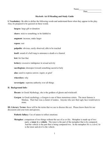 short answer study guide questions macbeth act i 1 rh yumpu com macbeth act 1 scene 5 study guide answers macbeth study guide answers act 1 scene 2
