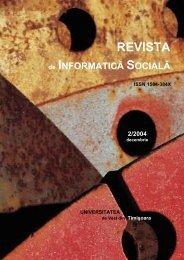 No 2 - Journal of Social Informatics / Revista de Informatica Sociala ...