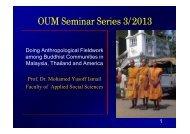 OUM Seminar Series 3/2013