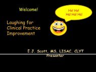 Laughing for Clinical Practice Improvement