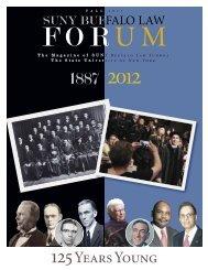 2010 Spring Forum copy - SUNY Buffalo Law School - University at ...