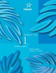 First quarter report (PDF - 1MB) - Transat, Inc.