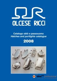 Catalogo oblò e passouomo Hatches and portlights catalogue
