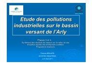 Présentation des propositions d'actions de l'étude des pollutions ...