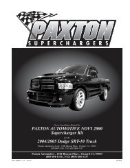2004 Dodge SRT-10 Ram - Paxton Superchargers