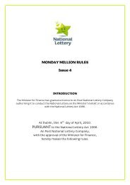 MONDAY MILLION RULES Issue 4 - National Lottery