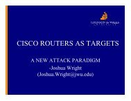 CISCO ROUTERS AS TARGETS