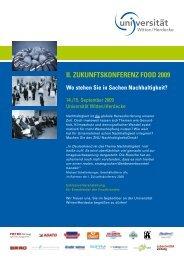 II. ZukunftskonferenZ food 2009 - Engel & Zimmermann AG