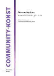 Community-Konst - Framtidens kultur