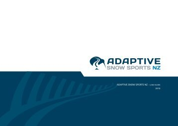 2012 ADAPTIVE SNOW SPORTS NZ - LOGO GUIDE