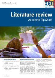 Literature review - Edith Cowan University