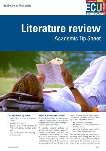 Literature review - Edith Cowan University