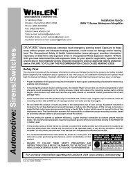 13236: WPA Series Waterproof Siren Amplifier - Whelen Engineering