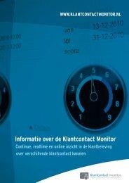 Informatie over de Klantcontact Monitor - Callcenter Makelaar